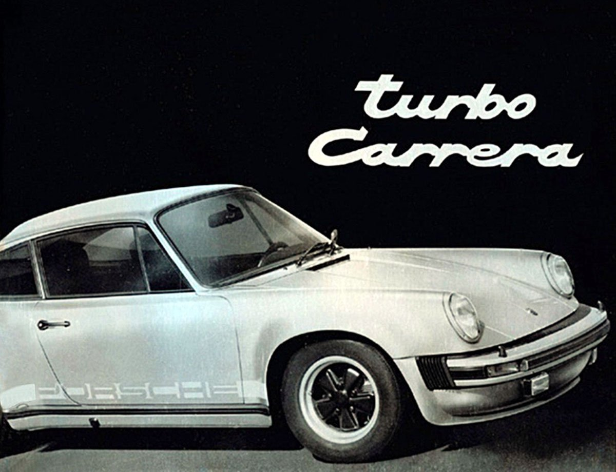 Porsche 911 turbo brochure from 1975