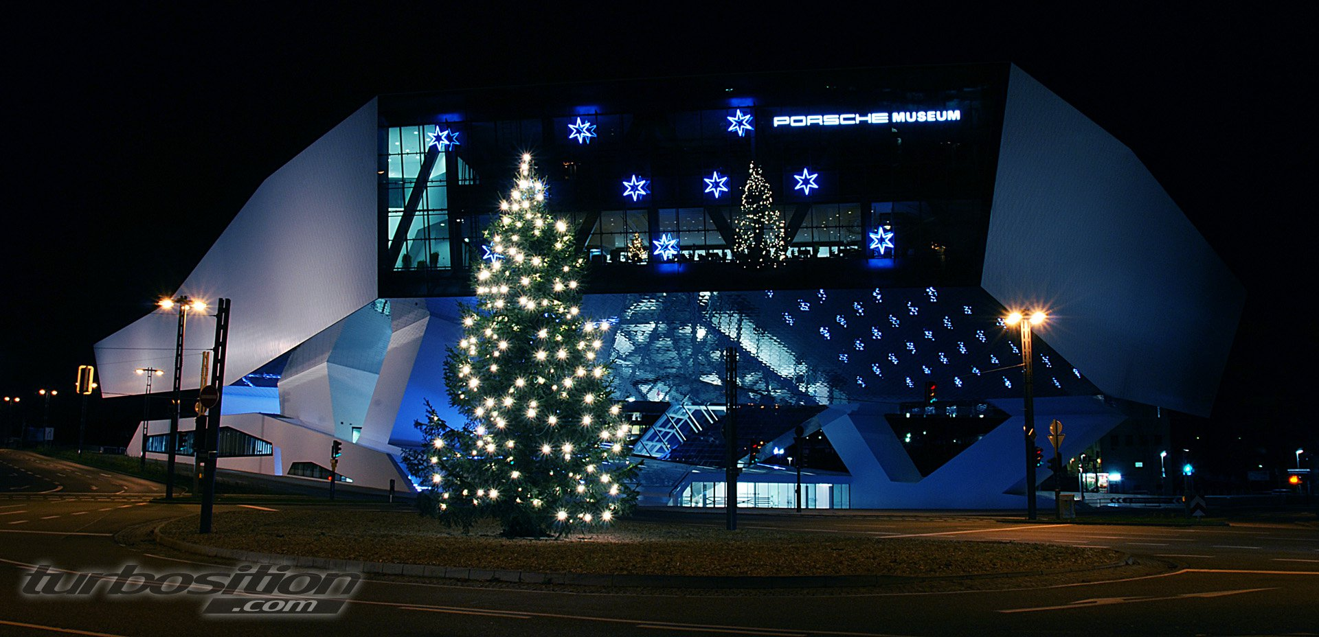 Porsche Museum at Christmastime