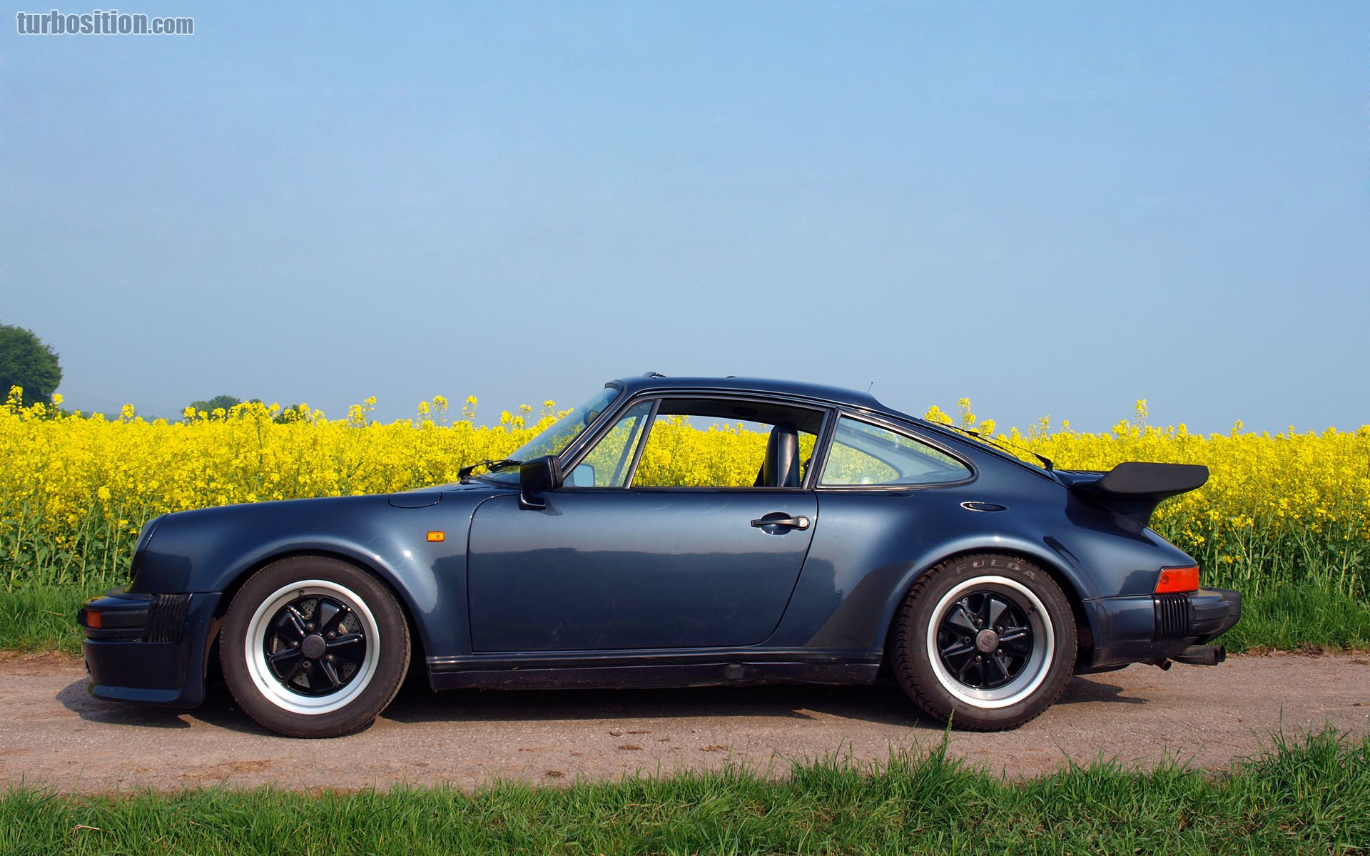 Porsche 930 Prussian Blue Metallic Porsche Of The Month 2015 06 Turbosition